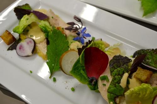 Poulet bio en salade César aux herbes du jardin | Mai 2013